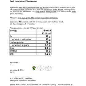 Travellunch Main Course 6x125/250g Bestseller Mix II